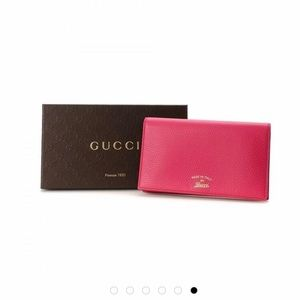 GUCCI Swing Leather Wallet with Strap Authentic